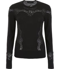 dolce & gabbana pullover with lace