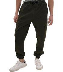 pantalon de sarga elasticado verde gangster