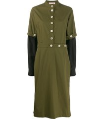 marni military midi dress - green