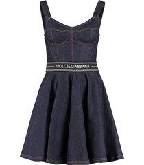 dolce & gabbana denim bustier dress