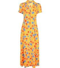 lhd floral print full-length dress - yellow