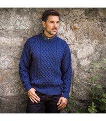 traditional men's aran sweater denim m