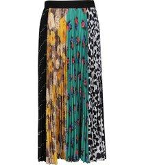 msgm multicolor pleated skirt