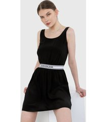 vestido negro-blanco calvin klein