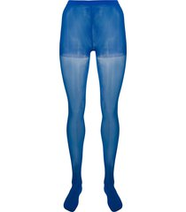 junya watanabe high-waist semi-sheer tights - blue