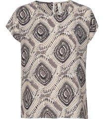 sc-solea t-shirts & tops short-sleeved multi/mönstrad soyaconcept