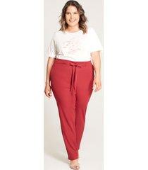 pantalón lazo cintura rojo 22