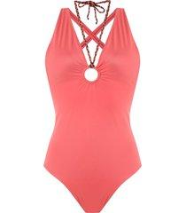 brigitte slim fit swimsuit - red