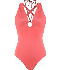 brigitte slim fit swimsuit - red