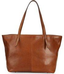 sam edelman women's medium eden leather tote - luggage