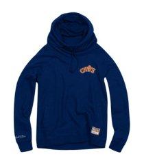 mitchell & ness women's cleveland cavaliers funnel neck fleece hoodie