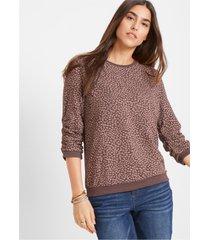 gedessineerde sweater met 3/4-mouwen