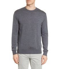 peter millar crown crewneck sweater, size x-large in charcoal at nordstrom