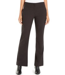 alfani snap-waist tummy-control trousers, created for macy's