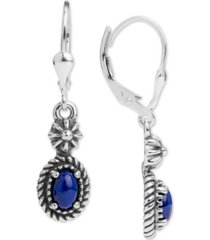 american west lapis lazuli drop earrings in sterling silver