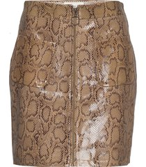 animal short skirt kort kjol beige maud