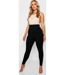 plus corrigerende leggings met hoge taille, zwart
