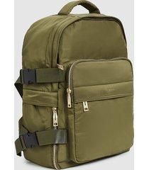 reiss harrison - nylon backpack in forest green, mens