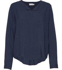 frhazavisk 1 shirt blus långärmad blå fransa