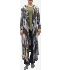 coin 1804 women's tie dye long sleeve hoodie duster