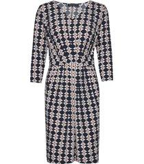 dress short 3/4 sleeve jurk knielengte multi/patroon betty barclay