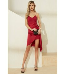 guess karin embellished faux-wrap dress