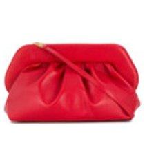 themoirè clutch com detalhe franzido - vermelho