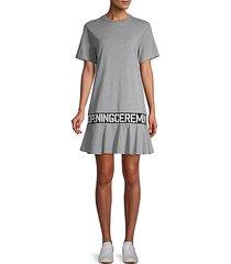 logo-tape cotton t-shirt dress