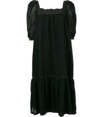 a.n.g.e.l.o. vintage cult midi flared dress - black