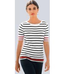 trui alba moda rood::marine::wit