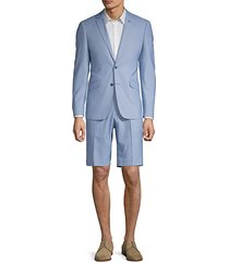 extra slim fit stretch fabric short suit