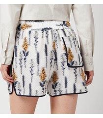 baum und pferdgarten women's naomi shorts - white - eu 40/uk 12