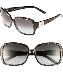 women's kate spade new york 'lulu' 55mm rectangular sunglasses -