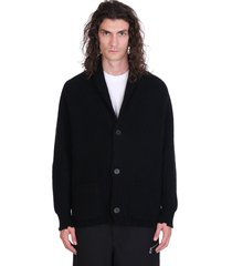 laneus cardigan in black cashmere