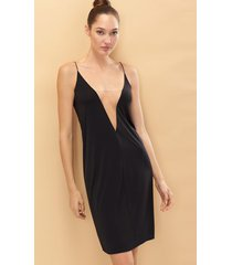 natori affair slip bodysuit, women's, black, size l natori