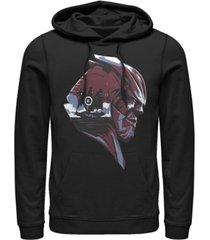 marvel men's avengers endgame thanos helmet scene, pullover hoodie