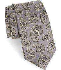 men's cufflinks, inc. 'batman' paisley silk tie, size regular - grey