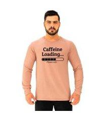 camiseta manga longa moletinho mxd conceito caffeine loading