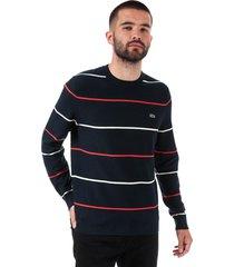 mens crew neck striped cotton sweatshirt