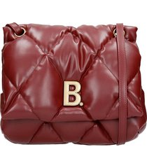 balenciaga touch puffy shoulder bag in bordeaux leather