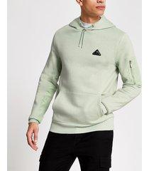 river island mens mcmlx light green slim fit hoodie