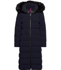 coat not wool gevoerde lange jas blauw gerry weber edition