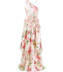 philipp plein floral day dress - white