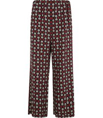 gucci all-over print cropped trousers