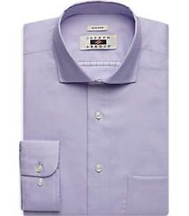 joseph abboud lavender textured dress shirt