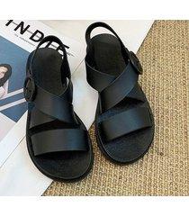 sandalias versátiles de moda para mujer-negro