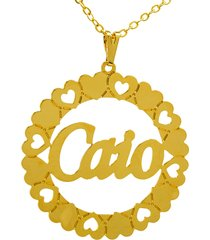 gargantilha horus import mandala caio banho ouro amarelo 18 k - 1060036