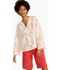alfani printed v-neck wide-sleeve top, created for macy's
