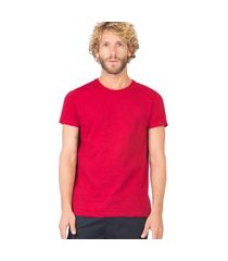 t-shirt básica premium flamê fit vermelha escura vrm es/gg