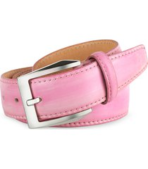 pakerson designer men's belts, men's pink hand painted italian leather belt
